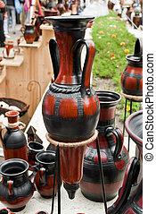 Traditional Romanian pottery festival, Cucuteni and Horezu ceramics.