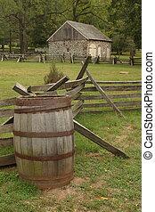 Potts' Barn and barrel taken at Valley Forge National Park,...