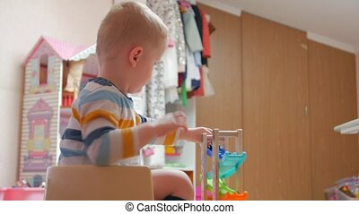 Potty child with cars childrens room home interior