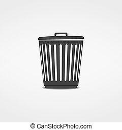 poubelle, icône