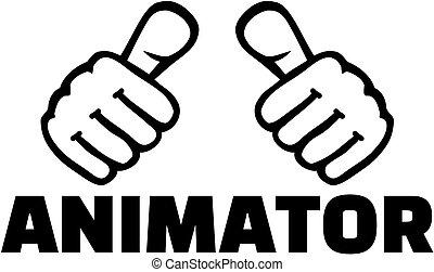 pouces, animator