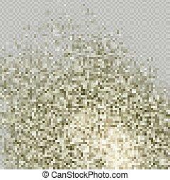 poudre, exhaler, 10, arrière-plan., sec, air., beige, fumée, particule, poussière, transparent, explosion., ou, sol, effet, eps, brun