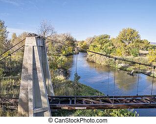 poudre, flod, og, akvadukten