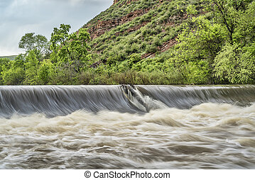 Poudre river diversion dam - diversion dam taking water from...