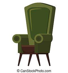 pouf, かわいい, スタイル, アパート, ビジネス, 供給される, 肘掛け椅子, ∥あるいは∥, 隔離された, イラスト, 席, 容易椅子, ベクトル, 背景, デザイン, 内部, office-chair, 椅子, 白, 漫画, 家具