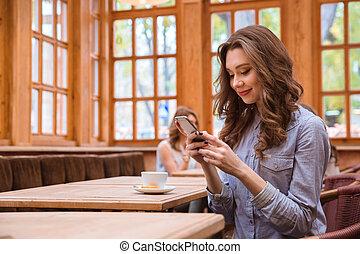 pouití, manželka, smartphone, výčep