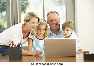pouití počítač na klín, dům home
