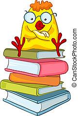poulet, caractère, dessin animé