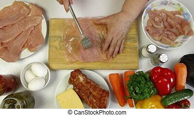 poulet, cuisine, poitrine