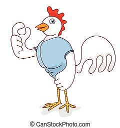 poulet, fort