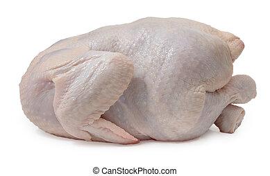 poulet frais, isolé, sur, a, blanc, arrière-plan., fin, haut.