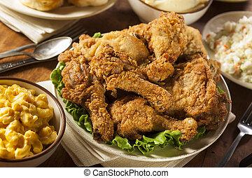 poulet, frit, méridional, fait maison