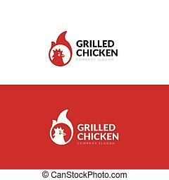 poulet grillé, restaurant
