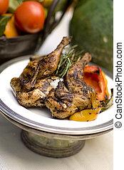 poulet grillé, romarin