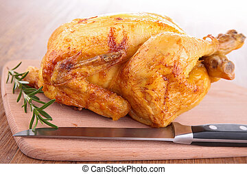 poulet, rôti