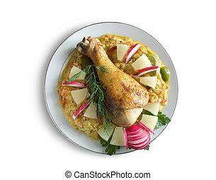 poulet, riz
