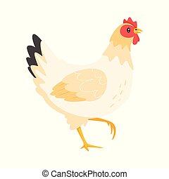poulet, vecteur, illustration
