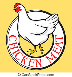 poulet, viande, étiquette