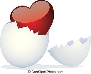 poulets, jour, valentine