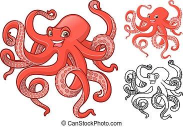 poulpe, caractère, dessin animé
