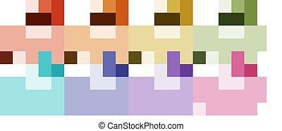 poulpe, couleurs, différent