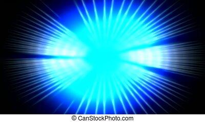 pouls, éblouissant, bleu, rayon, lumière