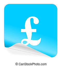 pound blue sticker icon