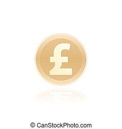 Pound, british coin icon