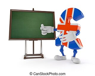 Pound character with blank blackboard