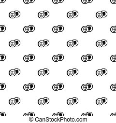 Pound coin pattern, simple style