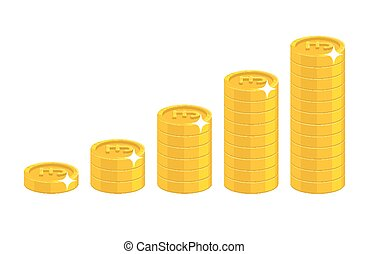 Pound coin stack