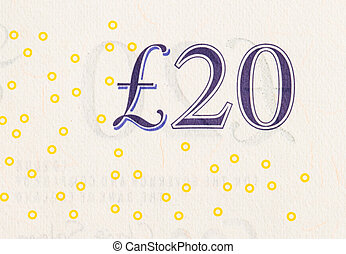 Pound currency background - 20 Pounds - Pound currency...