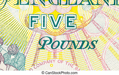 Pound currency background - 5 Pounds - Pound currency...