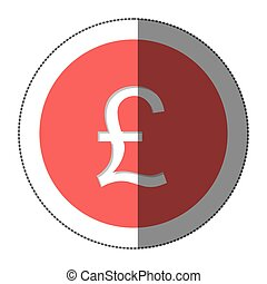 pound currency symbol icon image, vector illustration