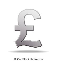 pound currency symbol. Vector illustration isolated on white background