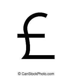 pound  flat color icon