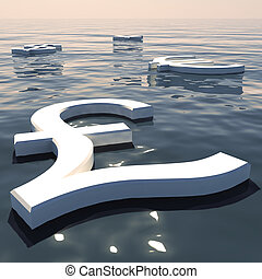 Pound Floating And Currencies Going Away Showing Money ...