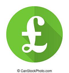 pound green flat icon