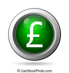 Pound icon. Internet button on white background