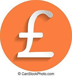 Pound icon, paper style