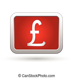 Pound icon. Vector illustration