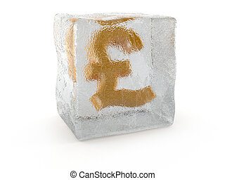Pound in ice cube