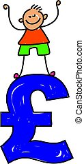pound kid - Kid standing on a pound symbol - toddler art ...