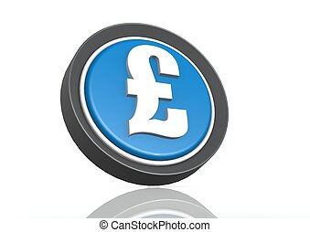 Pound round icon in blue