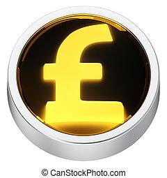 Pound round icon
