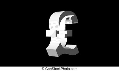 Pound sign Engulfed in Flames in HD format. Good for showing concept of recession