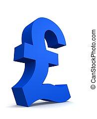 pound sign - 3d rendered illustration of a blue pound sign