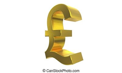 Pound sign symbol rotate loop business finance tax england britain