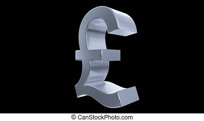 Pound sign symbol rotate loop business finance tax england britain brexit 4k