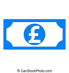Pound sterling and banknote